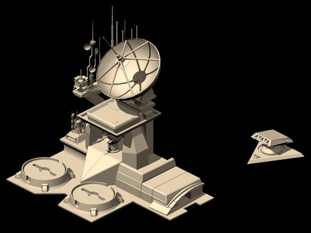 GDI Radar Installation and Nod SAM Site Render