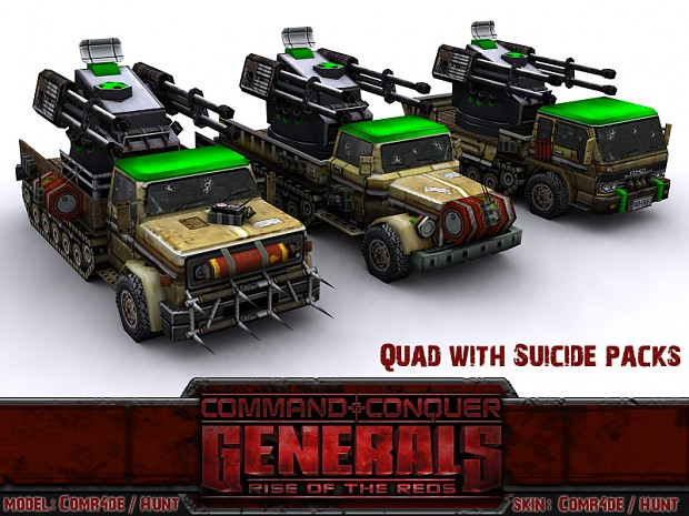 Quad Cannon with Suicide Packs