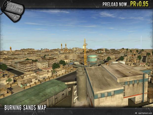 Burning Sands Map
