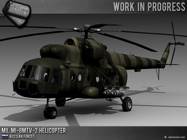 Russian Mil MI-8MTV-2 Helicopter