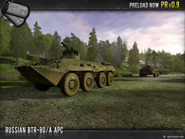 Russian BTR-80 APC