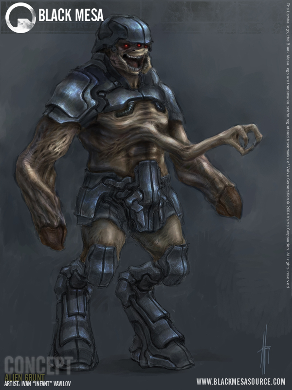 Alien Grunt Concept image - Black Mesa mod for Half-Life 2 ...