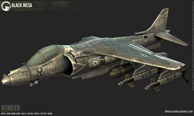 Harrier Jet Beauty Render