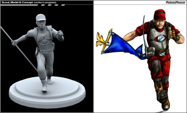 Scout: Posed Model & Concept