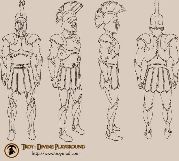 Greek soldier concept