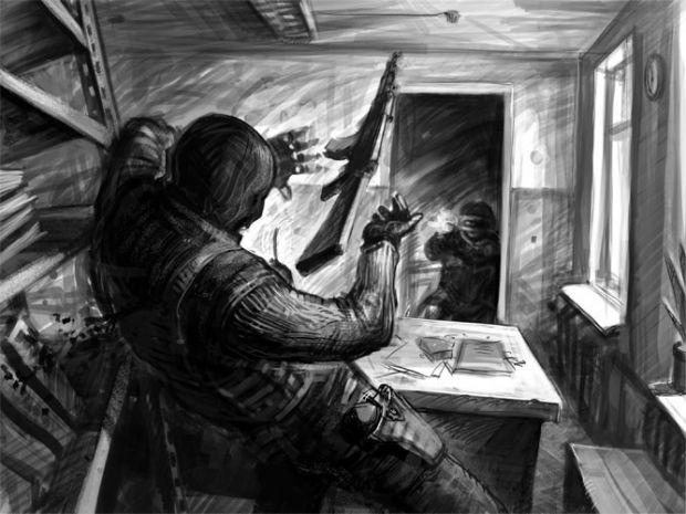 Alpha spetsnaz VS terrorists concept art