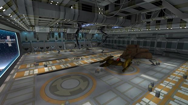 Battle Over Coruscant Hangar Duel