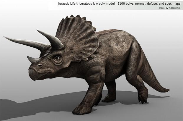 Triceratops Render