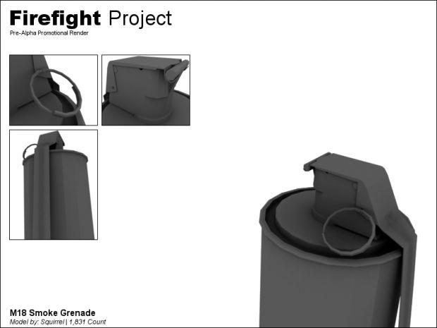 M18 Smoke Grenade Mesh Render - Pre-Alpha Promo image