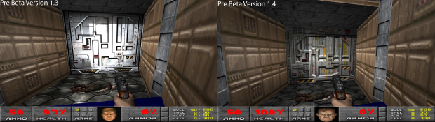 Pre-Beta Version 1.3 - 1.4 Comparison Images