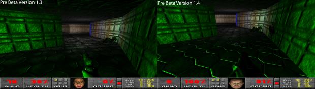 Pre-Beta Version 1.3 - 1.4 Comparison Images