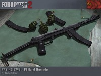 PPS-43 SMG / F1 Hand Granade