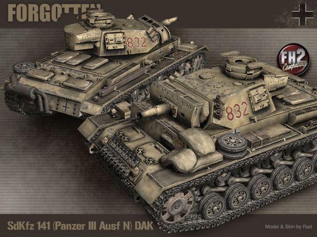 Panzer III N DAK