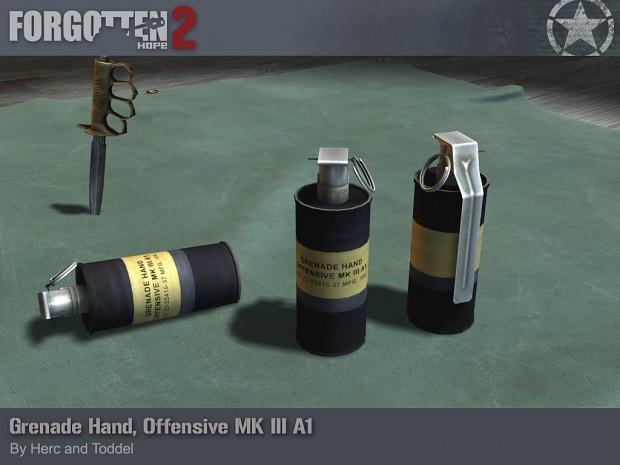 Grenade Hand, Offensive Mk III A1