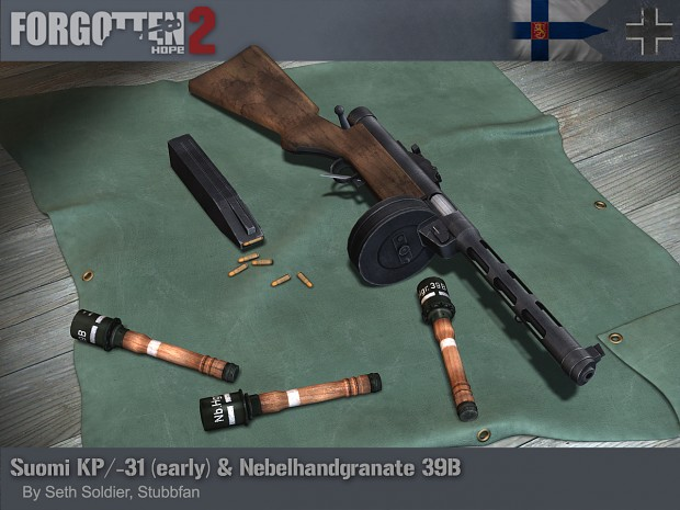 Nebelhandgranate 39B and Suomi KP/-31