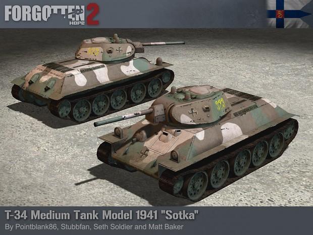 Finnish Captured T-34 model of 1941