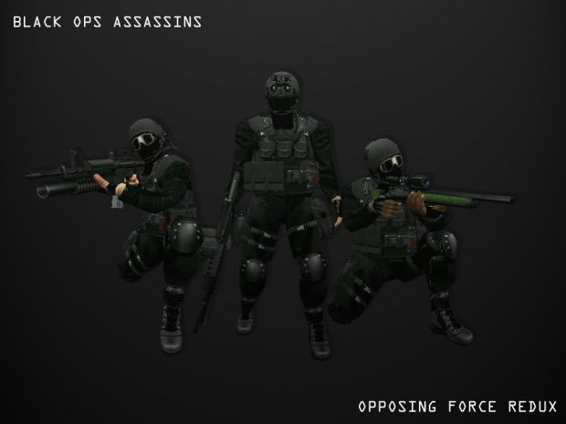 New Male Black Ops Assassin 2 image - Opposing Force Redux Mod for Half-Life