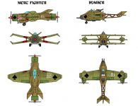 Pirate Merc Fighter and Bomber