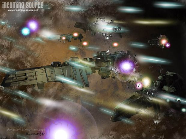 Incoming Source - Space Combat concept