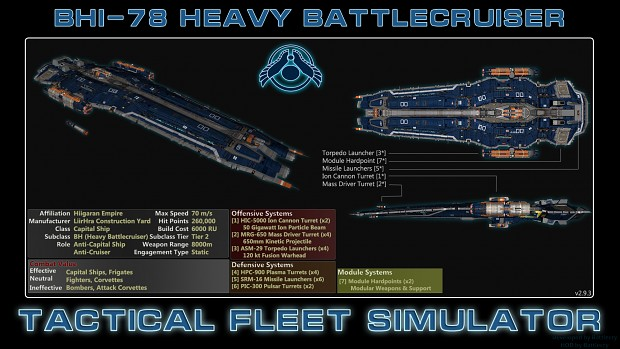 Hiigaran Heavy Battlecruiser (BHI-78)