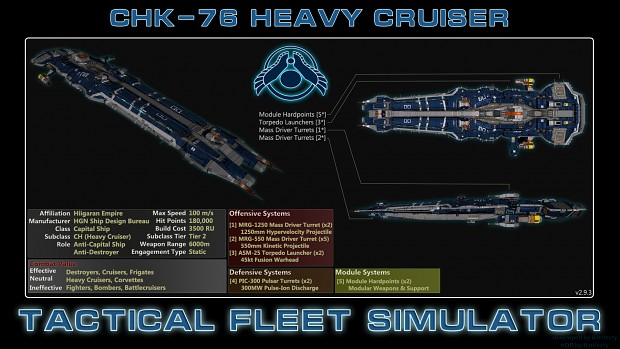 Hiigaran Heavy Cruiser (CHK-76)