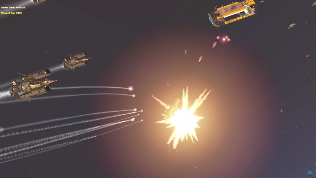 Strategic Bombers unleashing their payload
