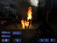 Zombie on fire!