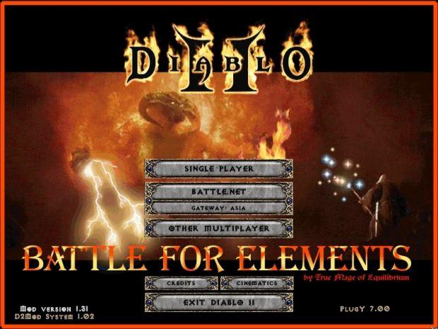 Title Screen image - Battle for Elements mod for Diablo II ...