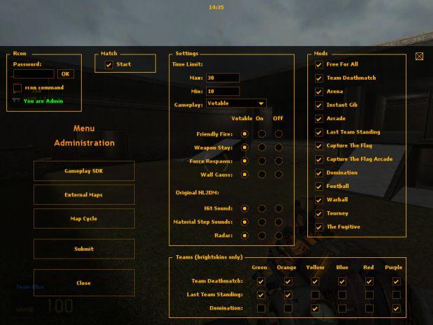 Server Admin Control Panel Image Hl2dm Pro Mod For Half