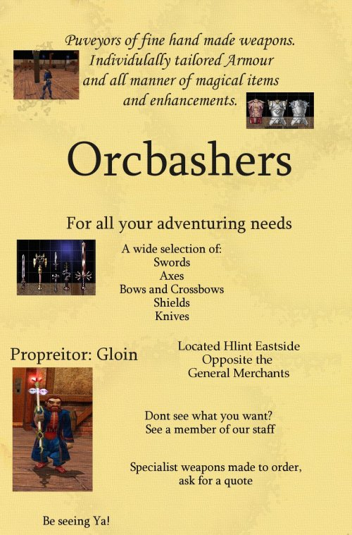 Orc Bashers Advert