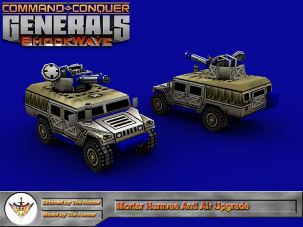 Mortar Humvee Vulcan Upgrade for General Alexander