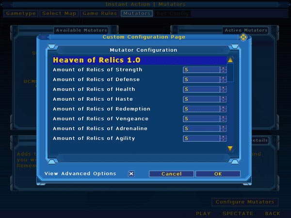 1.0 Configuration Menu