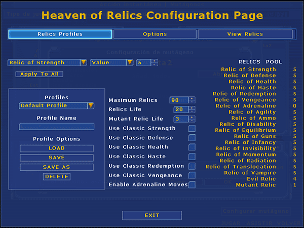 New Configuration Page