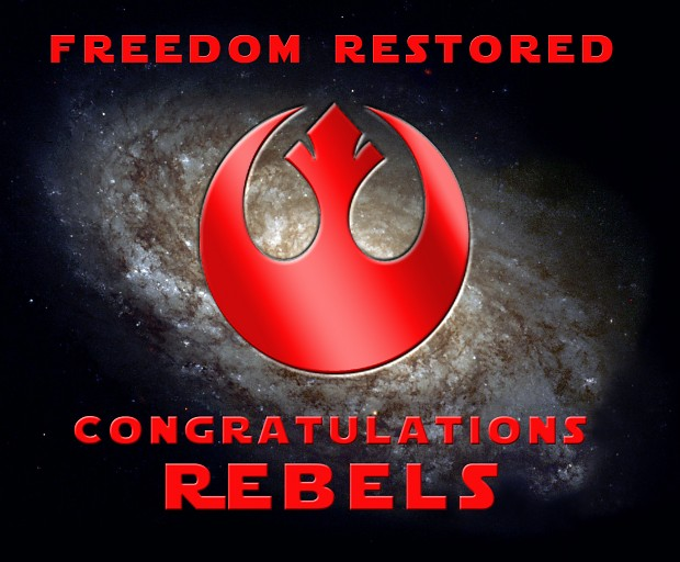 Rebel Victory Screen