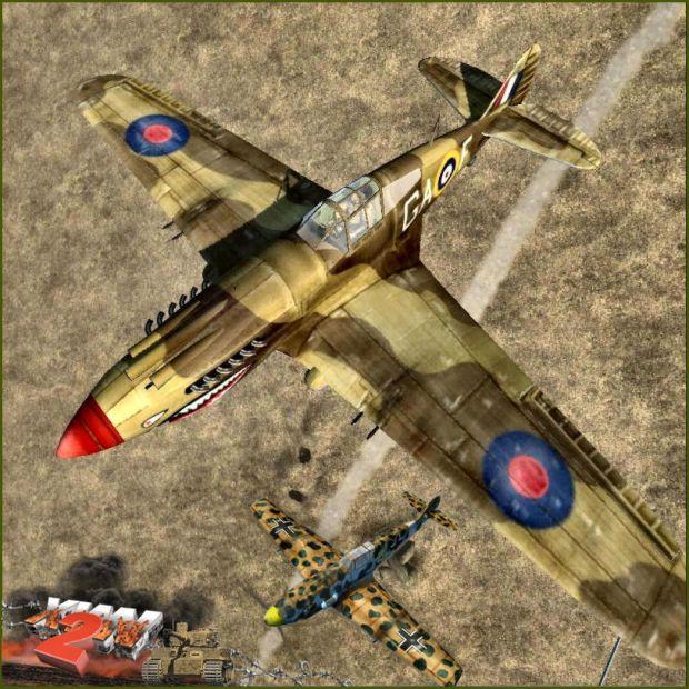 Tomahawk IIB and BF109 E-4