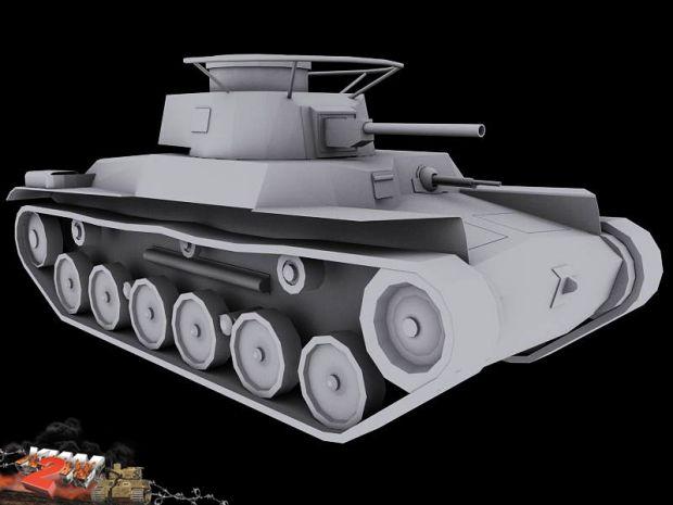 """Japanese Type 97 """"Chi-Ha"""" model render"""