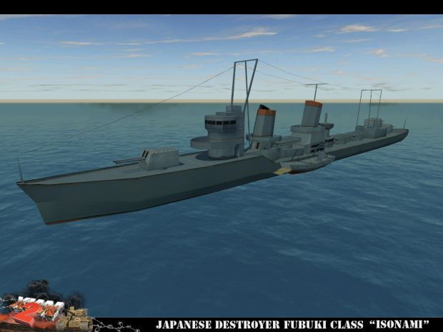 "Japanese Fubuki-class destroyer ""Isonami"""