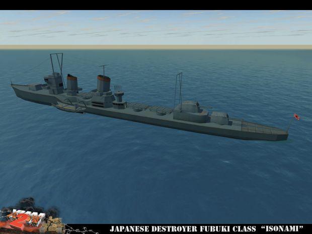 """Japanese Fubuki-class destroyer """"Isonami"""""""