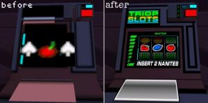 Slot Machines, before and after.