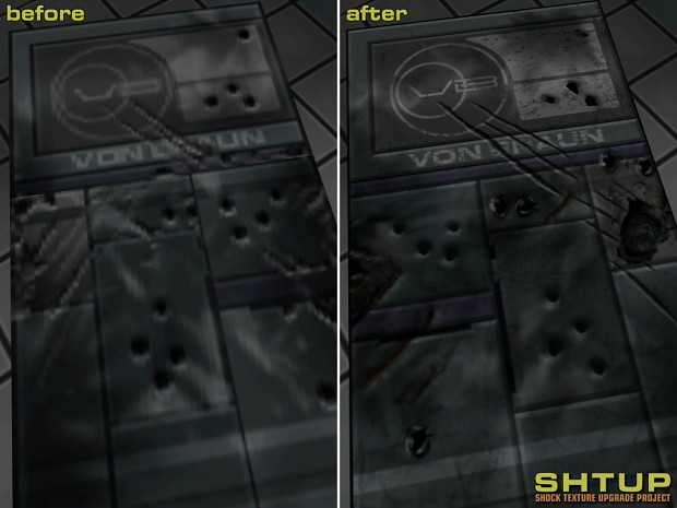 Before and After - Blasted door