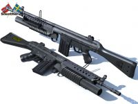 AK4 with M203 Render