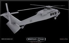UH-60 Blackhawk untextured