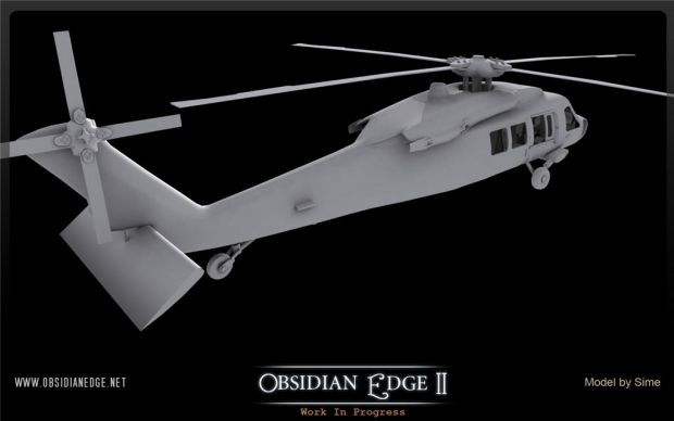 UH-60 Blackhawk untextured