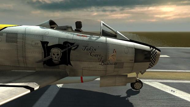 North American F-86 Sabre Fighter Jet