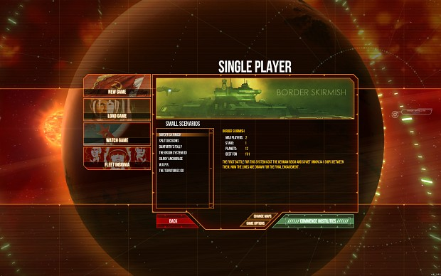 Single Player Interface