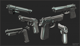 Beretta 90 TWO 9MM -- High Poly Version