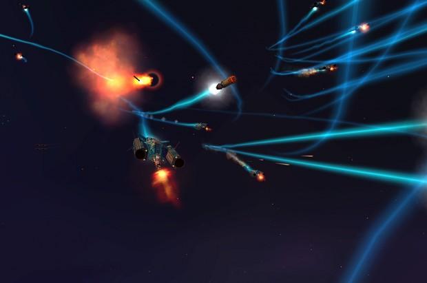Strategic Bomber firing weapons (1.2 Modernized)