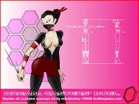 Kiyoko's redesigned alt costume concept art