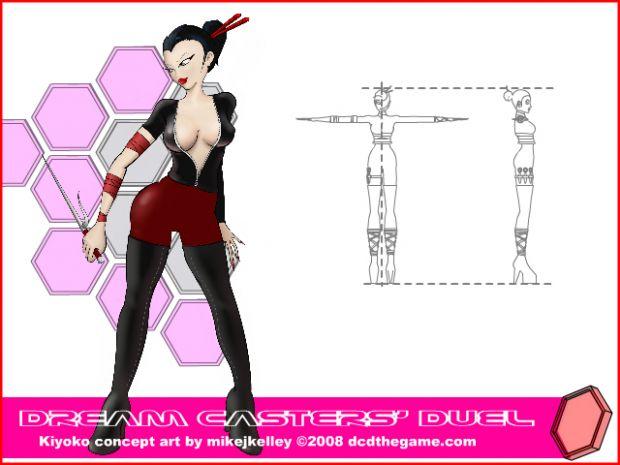 Kiyoko's redesigned concept art