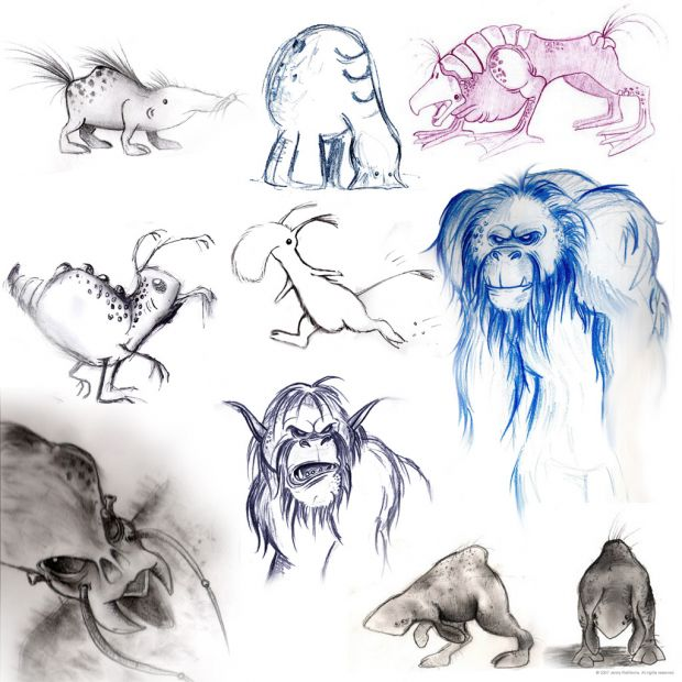 Early Creature Designs.